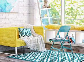 Türkis, Gelb, Outdoor Teppich, rug it, Indoor Teppich, modern farbenfroh