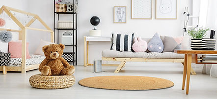 Inneneinrichtung, runder Teppich, Natur, Jute, Schlafzimmer, interior design