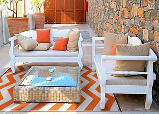 rug it, orange, eyecatcher, Terasse, Outdoor Teppich, Barcelona