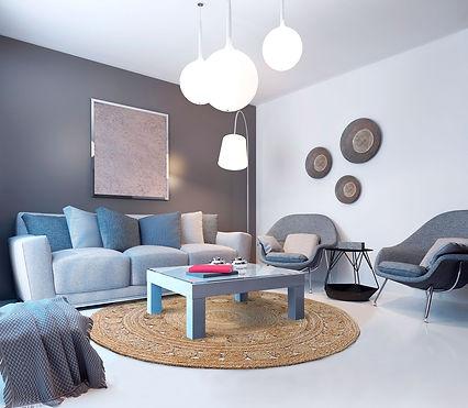moderne Einrichtung, runder Teppich, Jute, rug it, Malaga