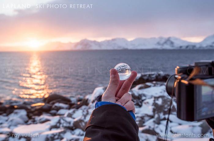 Photography Adventure Travel Lapland Ski Sunset