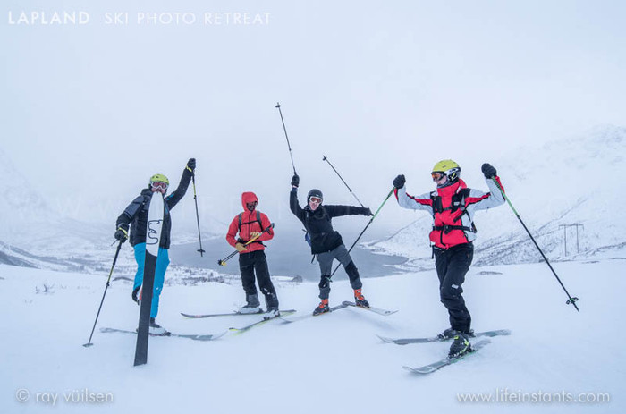 Photography Adventure Travel Lapland Ski Group