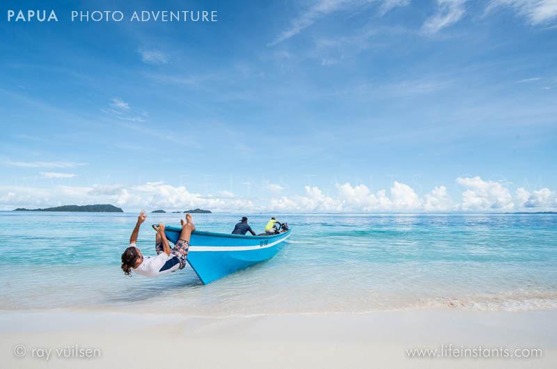 Photography Adventure Travel Papua Boat Beach