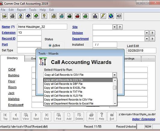 faq-1187 copy call records to csv file.j