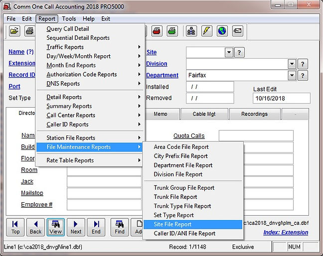 comm one call accounting software site f
