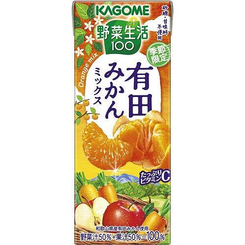 F14569 加果美有田柑野菜汁 195ml
