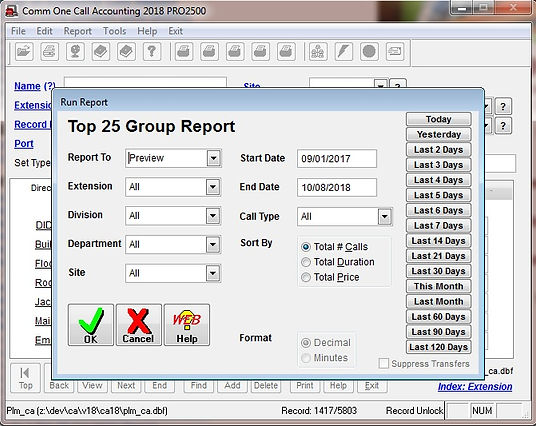 comm one call accounting software top 25