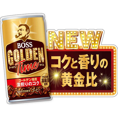 F14762  Suntory Golden Time Boss 深煎特濃咖啡 185g