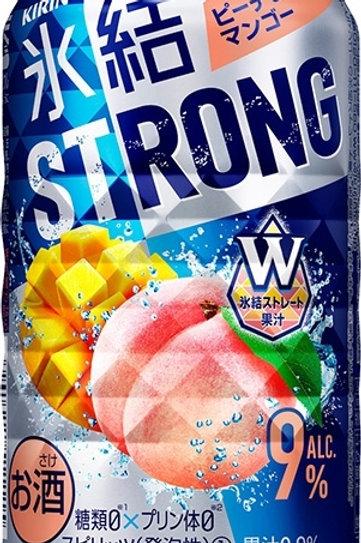 F12928 麒麟冰結 Strong 芒果水蜜桃超 Hi (酒精度 9%) 350ml