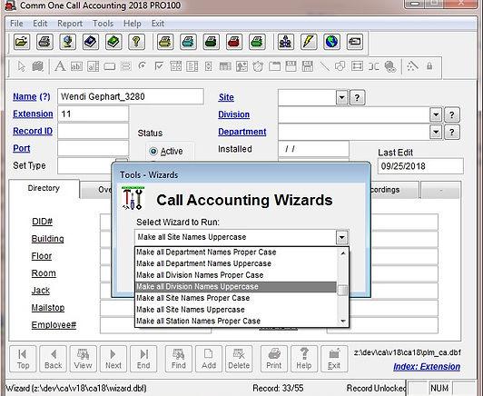 faq 1155 make all division names upperca