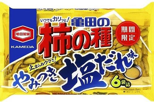 F14808  龜田鹽味生米菓小食 6 袋入 182g