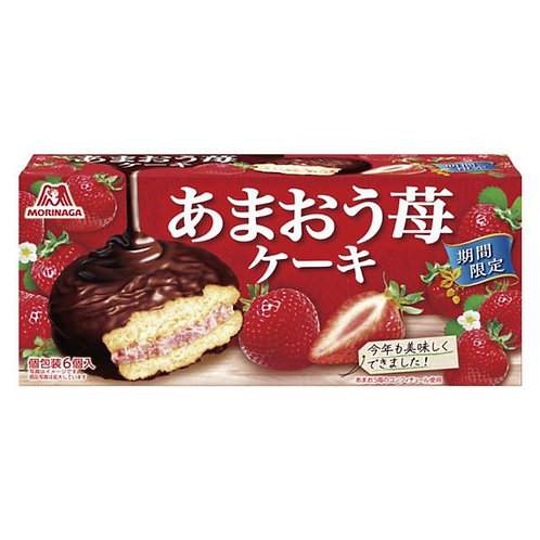 F14582 森永草莓夾心朱古力蛋榚 6's
