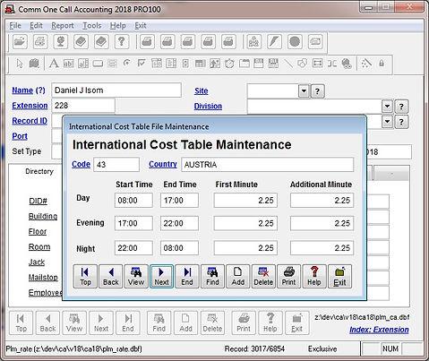 international cost table file maintenanc
