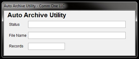comm one 2019 auto archive utility scree