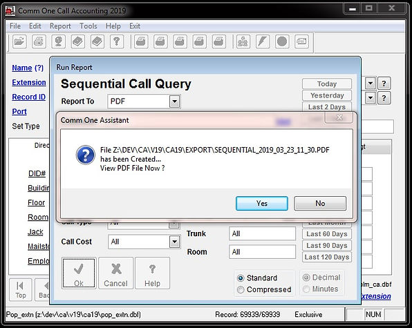 comm one sequential report preview featu