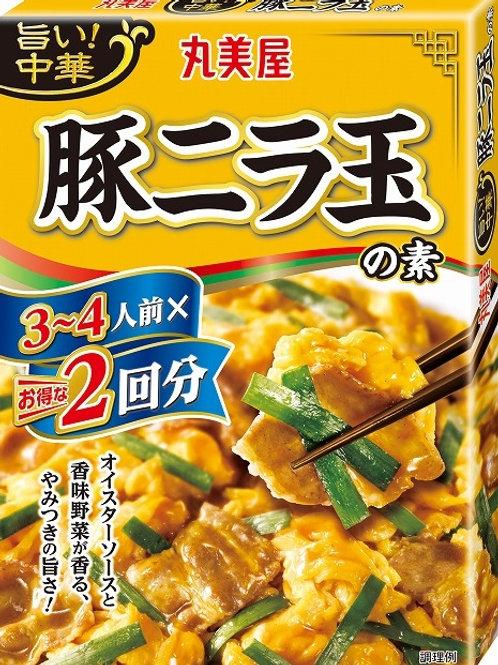 F14283 丸美屋中華雞蛋韮菜炒豚肉素 3-4 人前 2 回分 140g