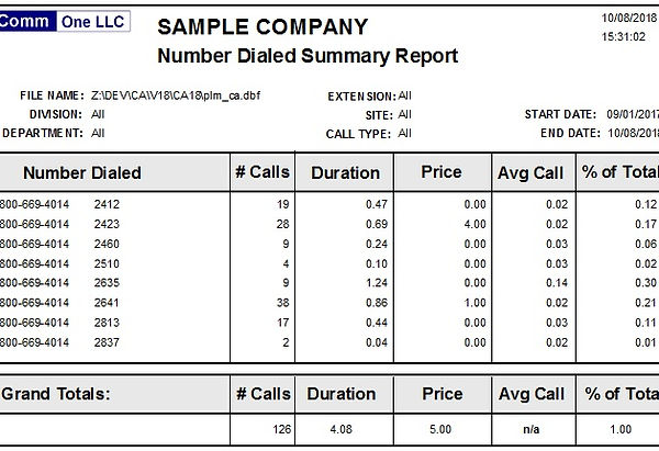 number dialed summary report sample.jpg