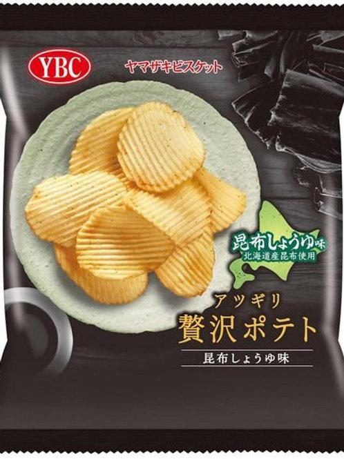 F14343 YBC 昆布醬油波浪薯片 55g