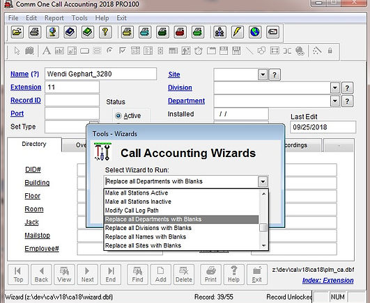 faq 1177 replace all departments with bl