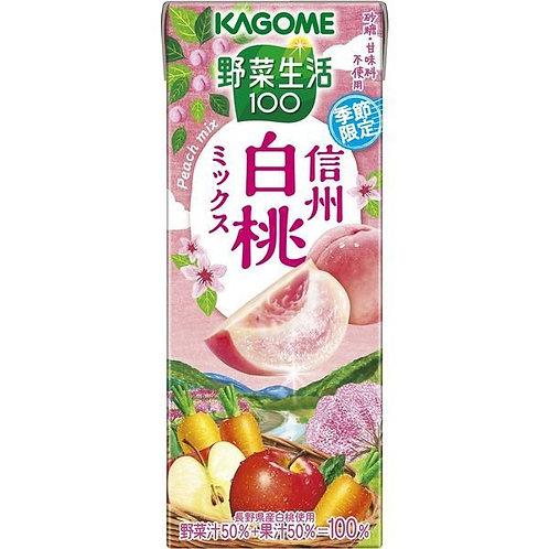 F14868  加果美信州白桃野菜汁 195ml
