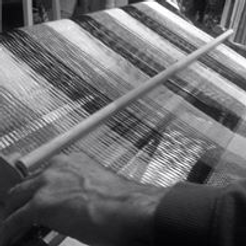 Weaving a specially commissioned throw