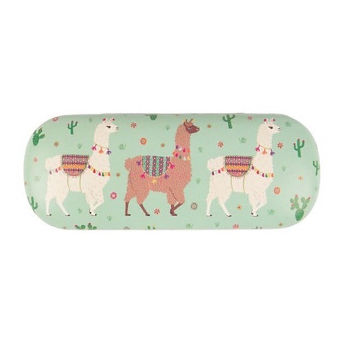 Glasses Case - Aqua Llamas