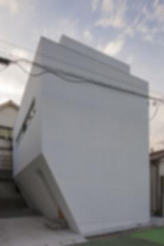 外観,夜景,狭小敷地,シンプル,モダン,家,住宅,注文住宅,デザイン,ミニマル,家,建築家,設計事務所,兵庫県,神戸市