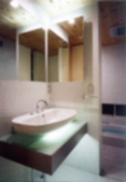 洗面,洗面台,浴室,間接照明,シンプル,モダン,家,住宅,注文住宅,デザイン,ミニマル,家,建築家,設計事務所,兵庫県,西脇市