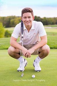 Kansas High School Senior Photography Golf Sport