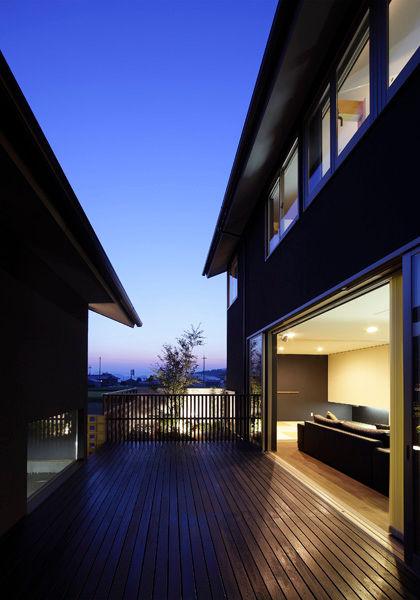 デッキ,中庭,シンプル,モダン,家,住宅,注文住宅,デザイン,ミニマル,家,建築家,設計事務所,兵庫県,神戸市