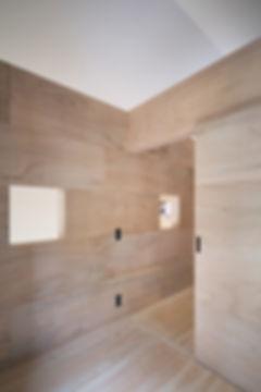 子供部屋,勾配天井,ラワン合板,桧フローリング,シンプル,モダン,家,住宅,注文住宅,デザイン,ミニマル,家,建築家,設計事務所
