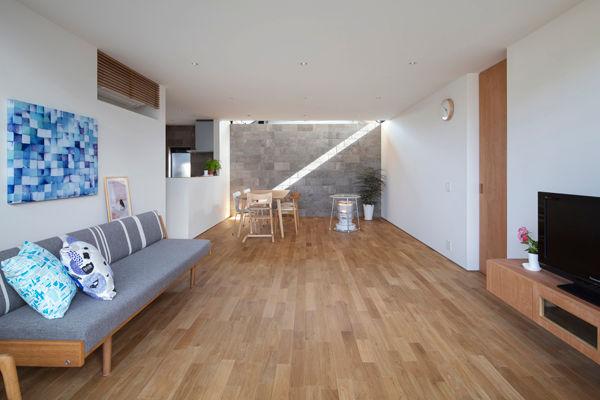丸亀,平屋,縁側,リビング,ダイニング,建築家,シンプル,residence,design,simle