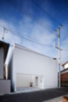 外観,中庭,箱,ボックス,シンプル,モダン,家,住宅,注文住宅,デザイン,ミニマル,家,建築家,設計事務所,兵庫県,姫路市