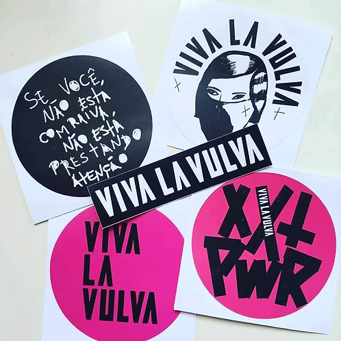 ADESIVOS kit stickers Viva La Vulva