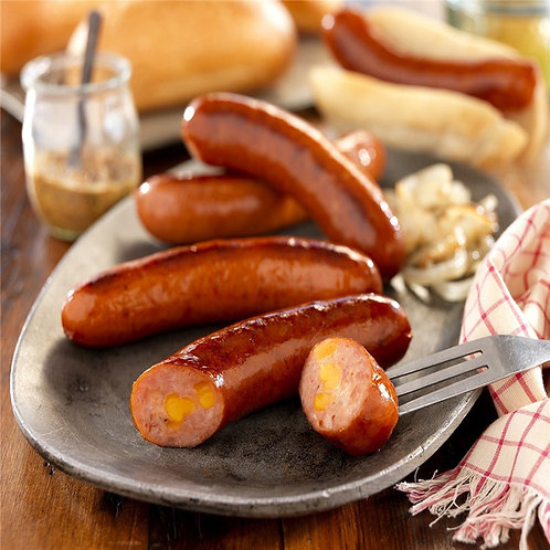 Beer and cheddar bratwurst