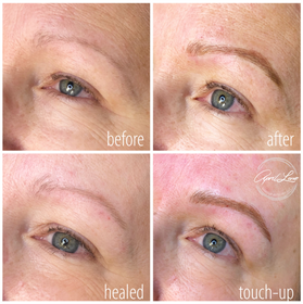 healed eyebrow tattoos