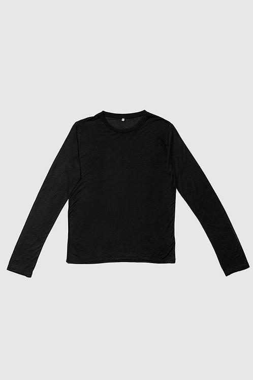 BASERANGE - Long Sleeve Tee, Black
