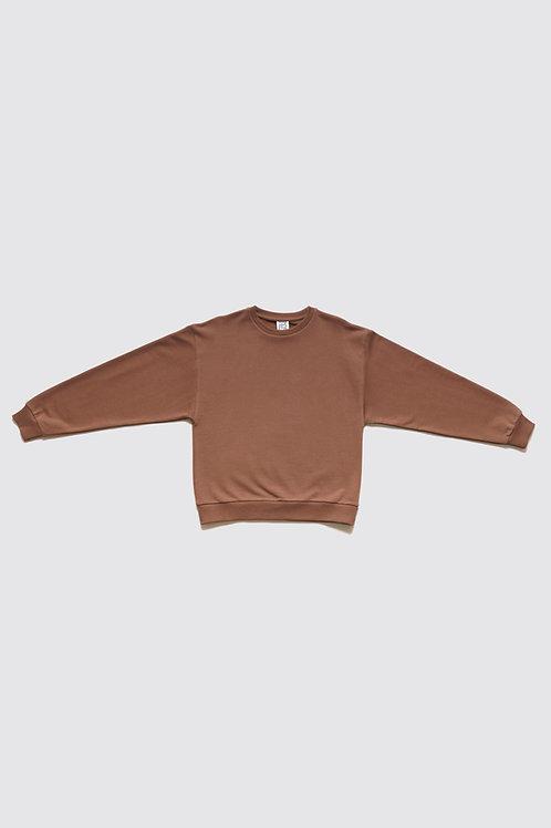BASERANGE - Loose Sweatshirt, Loam Brown