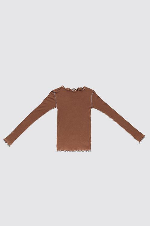 BASERANGE - Vein Long Sleeve, Loam Brown