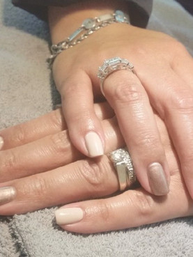 Shimmery Accent Nail