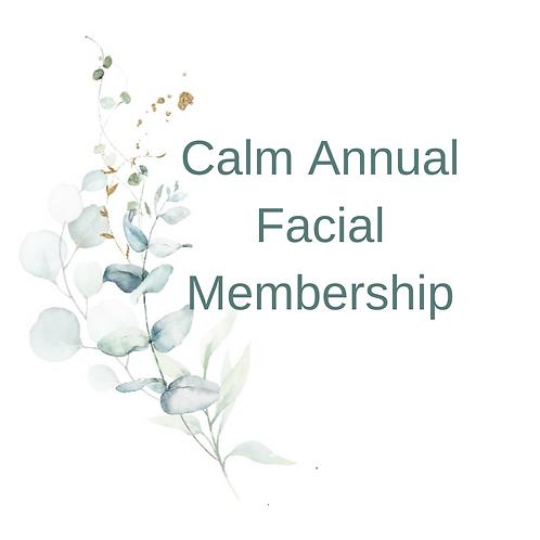 Calm Annual Facial Membership