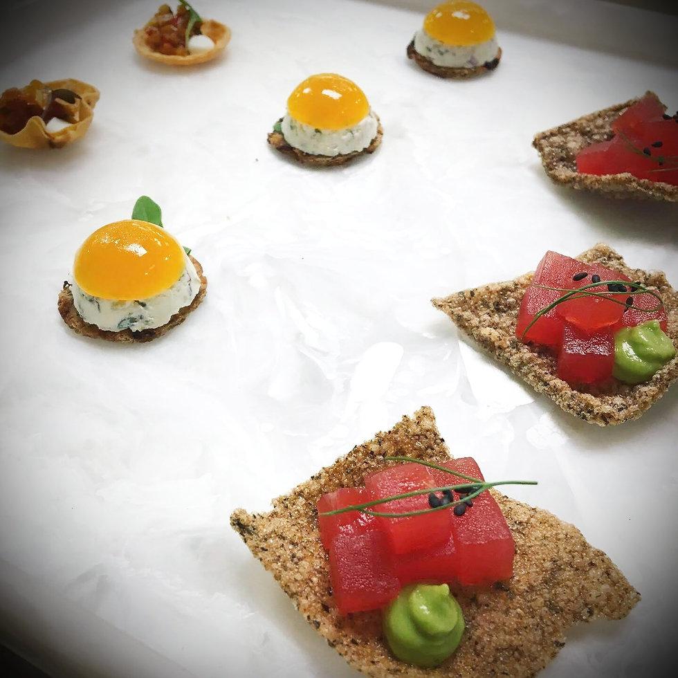 Variety of appetizers from Knife and Nettles Catering Vancouver.jpg