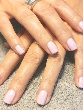 Nude Shellac Manicure