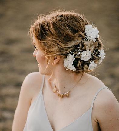 Updo Wedding Hair Model for Colors Beaut