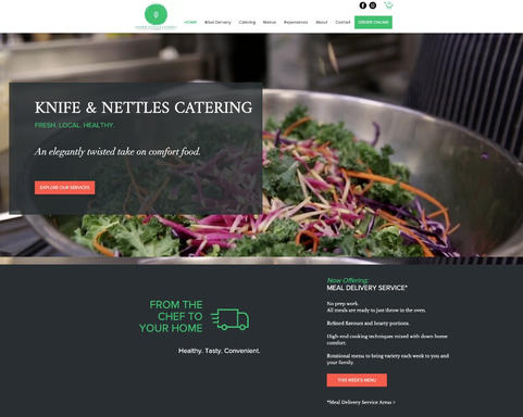 Meal Delivery Service Website Design by Sidekick in Port Moody, BC