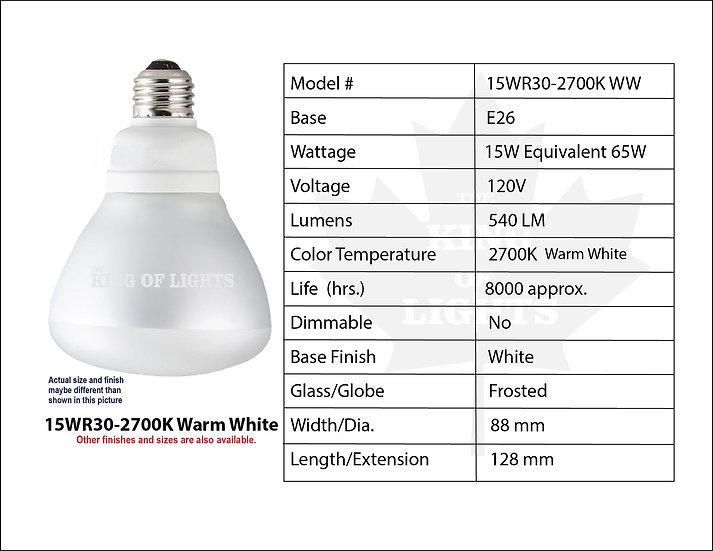 15WR30-2700K Warm White