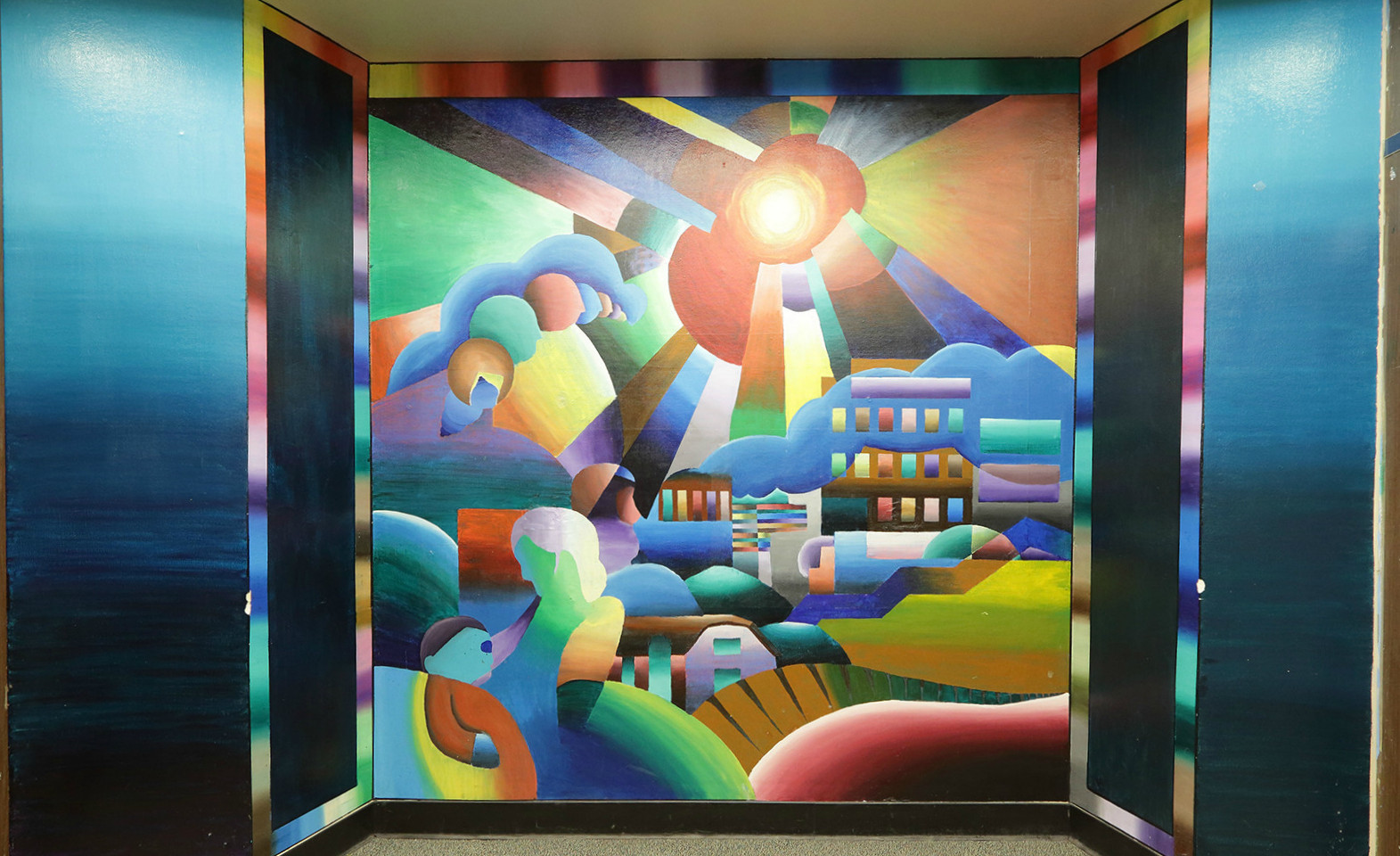 San Francisco area wall mural