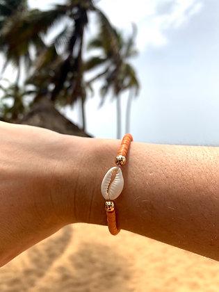 Bracelet Cauri corail