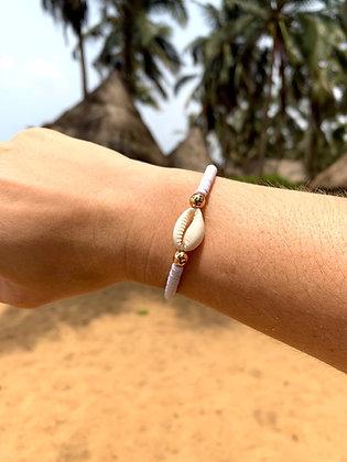 Bracelet Cauri Blanc