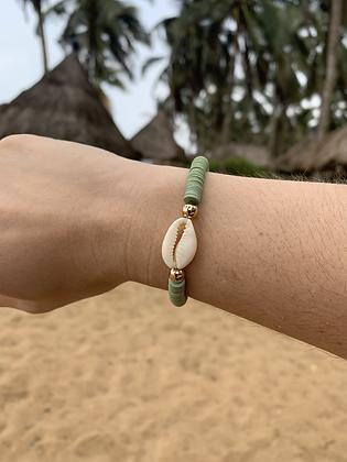 Bracelet Cauri Vert